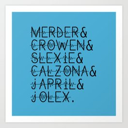 Grey's Anatomy Ships (2) Art Print