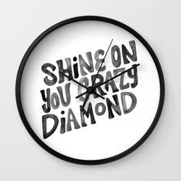 Shine On You Crazy Diamond – Black Ink Wall Clock