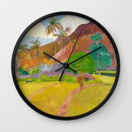 Tahitian Landscape by Paul Gauguin Wall Clock