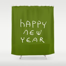 happy new year 16 Shower Curtain