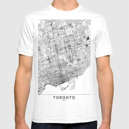 Toronto White Map T-shirt