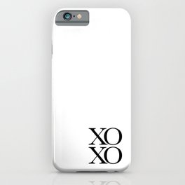 XOXO Art Print, Inspirational Quote, XOXO Wall Decor, Love Quote, Typography Art Print, XOXO Art Print, Hugs and Kisses Art Print, XoXo Quote Art Print, XoXo Art Print, xoxo Art Print, Love Card, Love Gift, Love Present iPhone Case