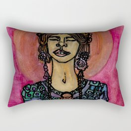 What if the Buddha was a Woman? Rectangular Pillow
