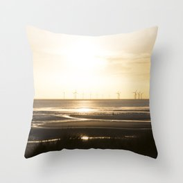 Sunset in Cosby beach Throw Pillow