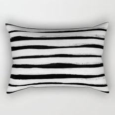 Black and White Stripes II Rectangular Pillow