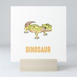 Cool I Raise Tiny Dinosaur  Funny Leopard Gecko Pet Gift T-Shirt Mini Art Print