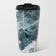 Blue Sea Marble Metal Travel Mug