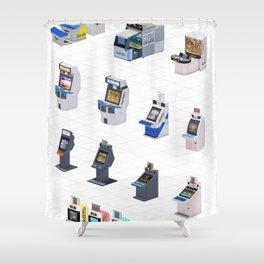 Capcom Arcade Cabinets Shower Curtain