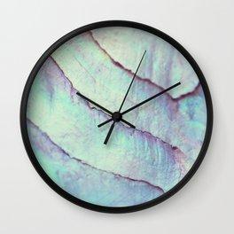 IRIDISCENT SEASHELL MINT by Monika Strigel Wall Clock