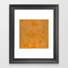 Orange Stucco Framed Art Print