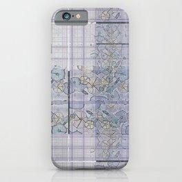 Plaid Tartan & Morning Glories iPhone Case