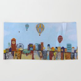 """Over and Under"" Beach Towel"