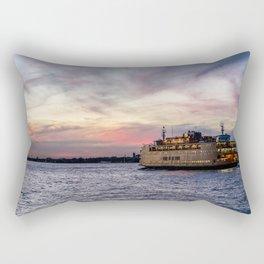 Red Sky Ferry Rectangular Pillow