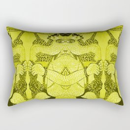 GANESHA-QUAD-YELLOW Rectangular Pillow