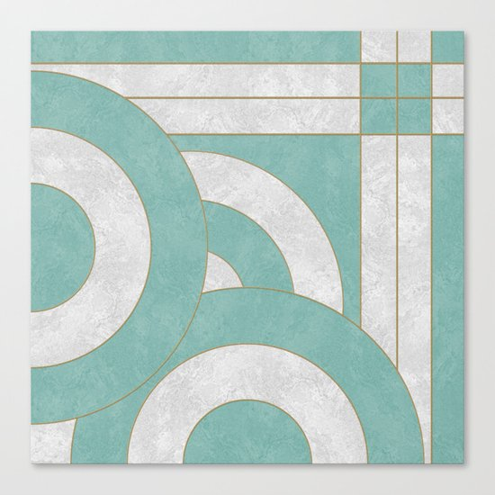 Geometric Marble 04 Canvas Print