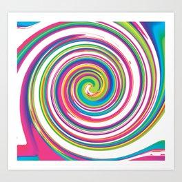 Multi Swirl Art Print