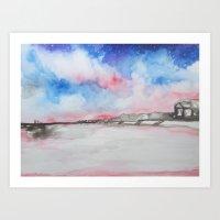 Topsail at Dusk Art Print