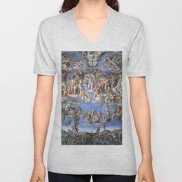 "Michelangelo ""Last Judgment"" Unisex V-Neck"