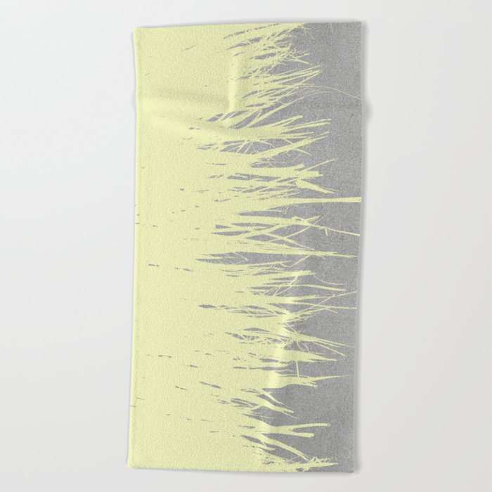 Concrete Fringe Yellow Beach Towel