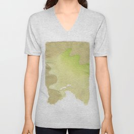 abstract lines on handmade paper Unisex V-Neck
