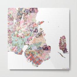 Augusta map Metal Print