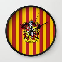 gryffindor Wall Clocks featuring Gryffindor - Hogwarts  by Kesen