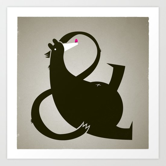 amp-bear-sand poster Art Print