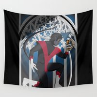 sword Wall Tapestries featuring Wagner's Sword by Andrew Formosa