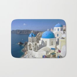 Santorini, Oia Village, Greece Bath Mat