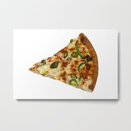 Spicy Pizza Slice Metal Print