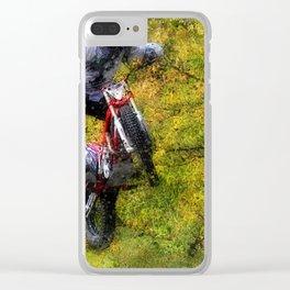 Extreme Biker - Dirt Bike Rider Clear iPhone Case