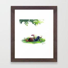 Weekend Goals Framed Art Print