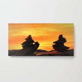 Zen mountains Metal Print