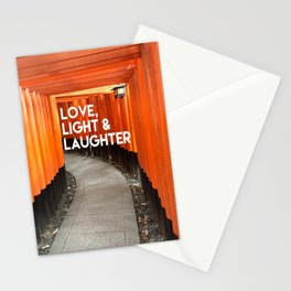 Love, Light & Laughter Stationery Cards