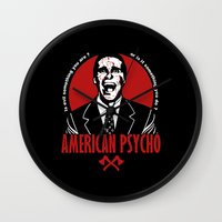 american psycho Wall Clocks featuring American Psycho by Buby87