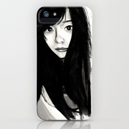 Gorgeous in Black Hair iPhone Case