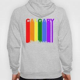 Calgary Alberta Gay Pride Rainbow Skyline Hoody