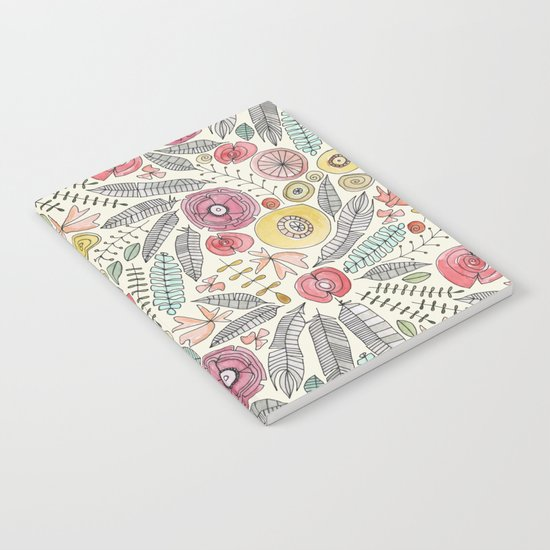 feather fleur watercolor Notebook
