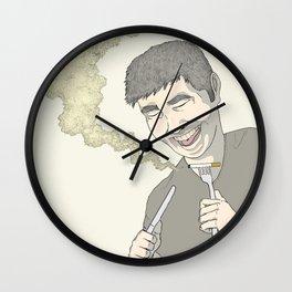 Eating Cigarettes Wall Clock