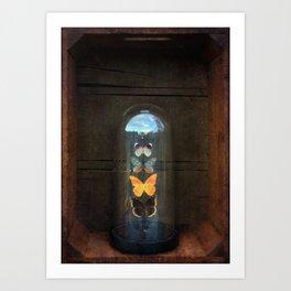 Butterflies in a Bell Jar Art Print