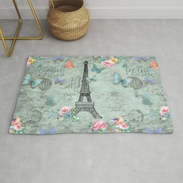 Paris - my love - France Eiffeltower Nostalgy - French Vintage Rug