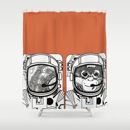 Searching for human empathy Shower Curtain