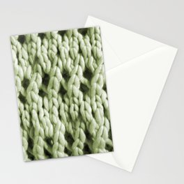 Chunky Knit in Grass Green  Stationery Cards
