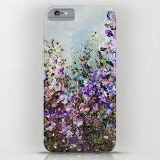Floral Garden Impressionism in Pretty Purple iPhone 6s Plus Slim Case