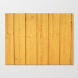 Dark texture fence rough yellow wood Canvas Print