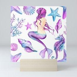mermaid beauty Mini Art Print
