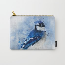 Watercolour blue jay bird Carry-All Pouch