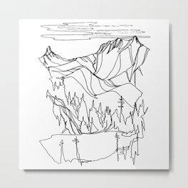 Hidden Alpine Lake Metal Print
