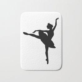 Ballerina silhouette (black) Bath Mat