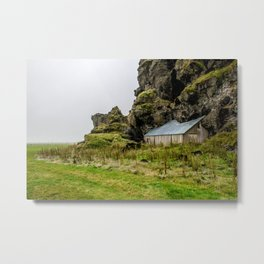 House in the Hill Metal Print